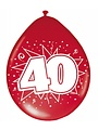 Ballonnen 40 jaar- 8stk