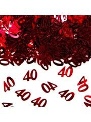Rode 40 confetti foiletti