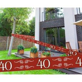 Rode 40 jaar Afzetlint