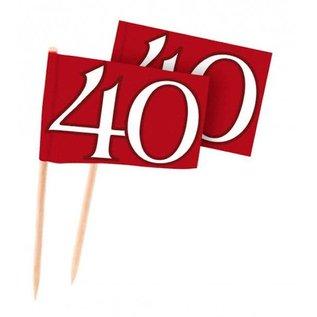 Rode 40 jaar Cocktailprikkers