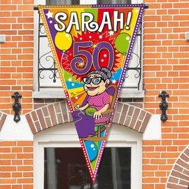 Grote Sarah 50 jaar Puntvlag