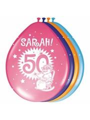 Sarah 50 jaar ballonnen 8 stuks