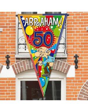Grote Abraham 50 jaar Puntvlag