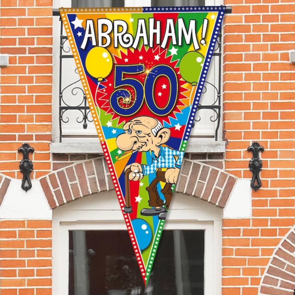Verwonderend Abraham 50 jaar Balkon Deur Puntvlag - Feestperpost LL-57