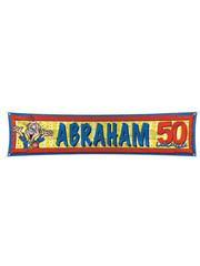 Abraham 50 jaar straat banner