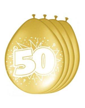 Ballonnen 50 jaar - 8stk