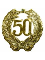 Gouden 50 jaar 3D Deurschild