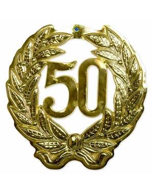 versiering 3D Deurschild Goud 50 Jaar
