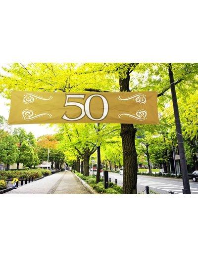 Gouden 50 jaar straatbanner banier