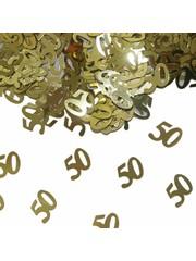 Gouden 50 confetti foiletti