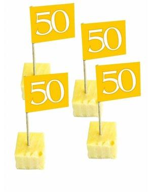 Gouden 50 cocktailprikkers