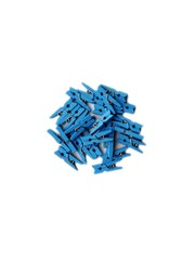 Blauwe mini knijpers 24 stuks