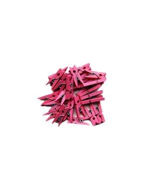 Roze mini knijpers 24  stuks