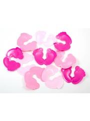 Voetjes confetti XL roze