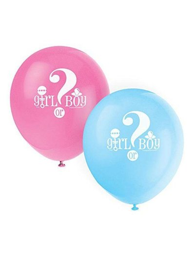 Girl or Boy gender reveal ballonnen