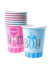 Girl or boy weggooi bekers gender reveal