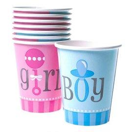 Girl or boy weggooi bekers gender reveal