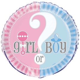 Girl or Boy gender reveal folieballon