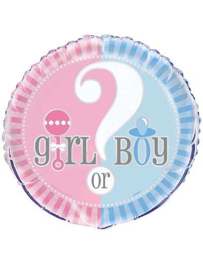 Folieballon Girl or Boy Gender Reveal