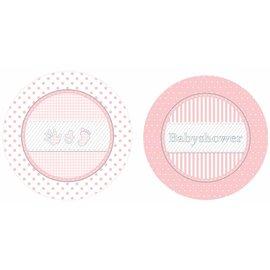 Roze baby shower weggooi bordjes