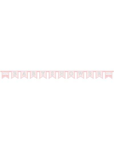 Roze baby shower letter banner