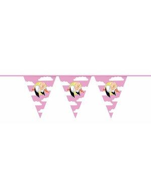 Roze geboorte meisje vlaggenlijn