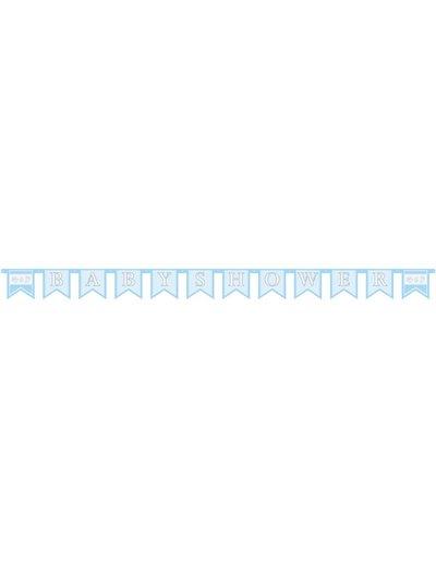 Lichtblauwe Baby shower letter banner