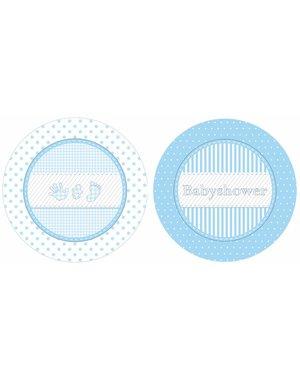 Blauwe Baby shower bordjes