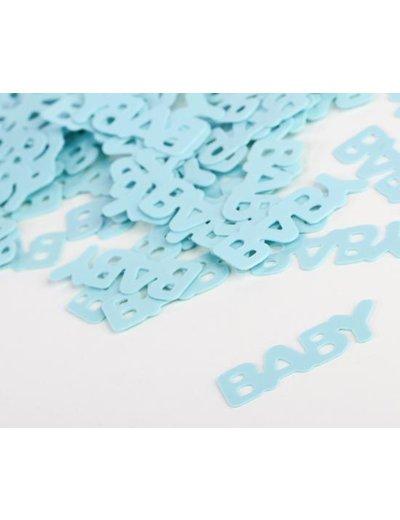 Blauwe baby confetti foiletti