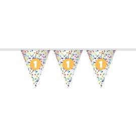 Gekleurde confetti 1 jaar vlaggenlijn