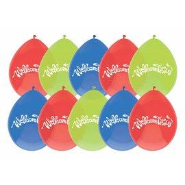 Welkom thuis gekleurde ballonnen