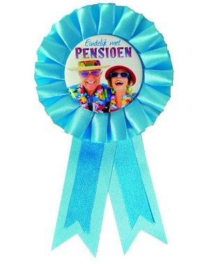 Eindelijk met pensioen rozet