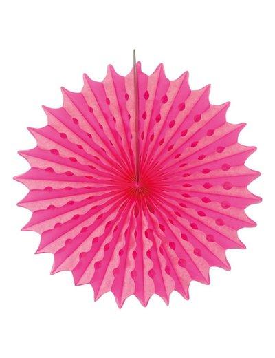 Neon roze honeycomb waaier
