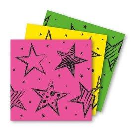 Neon servetten met sterren