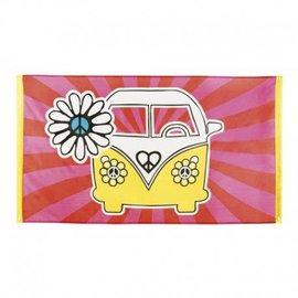 Peace 70's Hippie Vlag