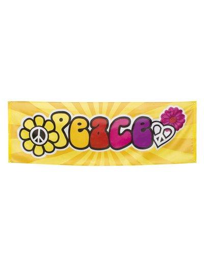 Hippie Peace straat banner
