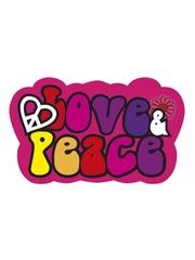 Love & Peace hippie deurbord