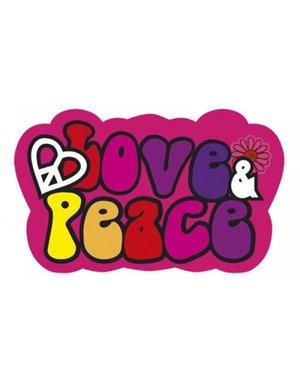 Love & Peace hippie deurbord