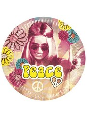 Hippie Peace weggooi bordjes