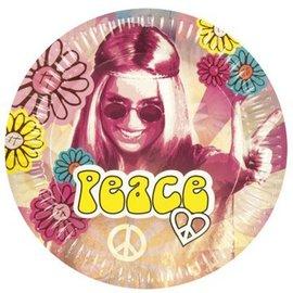 Hippie Peace weggooi bordjes