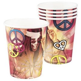 Hippie Peace weggooi bekers