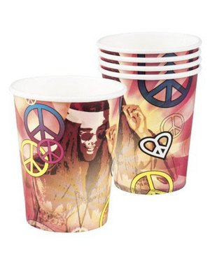 Hippie Peace weggooi bekers