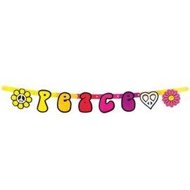 Peace Hippie letter banner