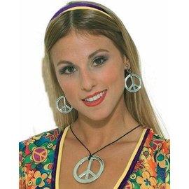 Hippie Peace Ketting Oorbellen