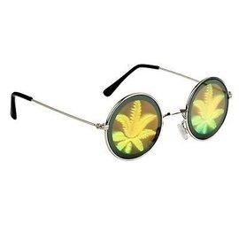 Holografische marijuana hippie zonnebril