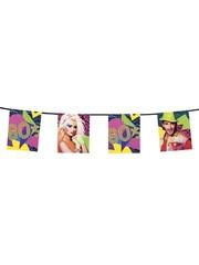 80´s Party kartonnen vlaggenlijn