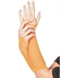 Neon oranje net handschoenen