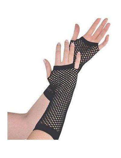 Zwarte net handschoenen