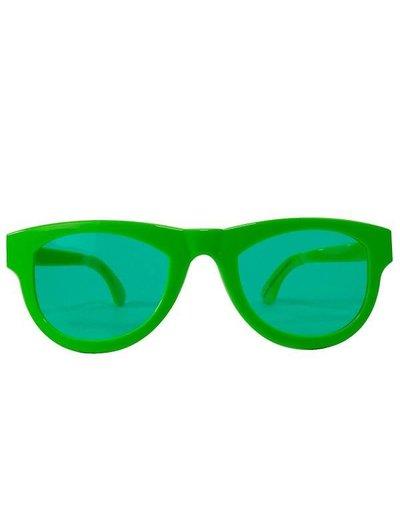 Neon groene XXL Bril