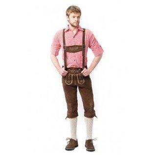 Lange Lederhose Rudi bruin Oktoberfest
